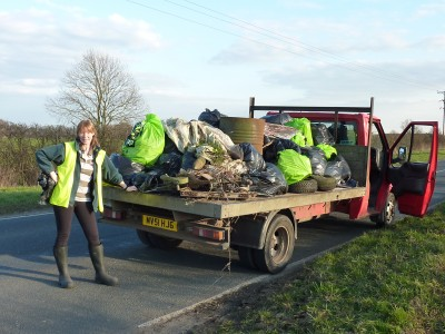 Litter Pick, Ermine Street to the A1077 (32)