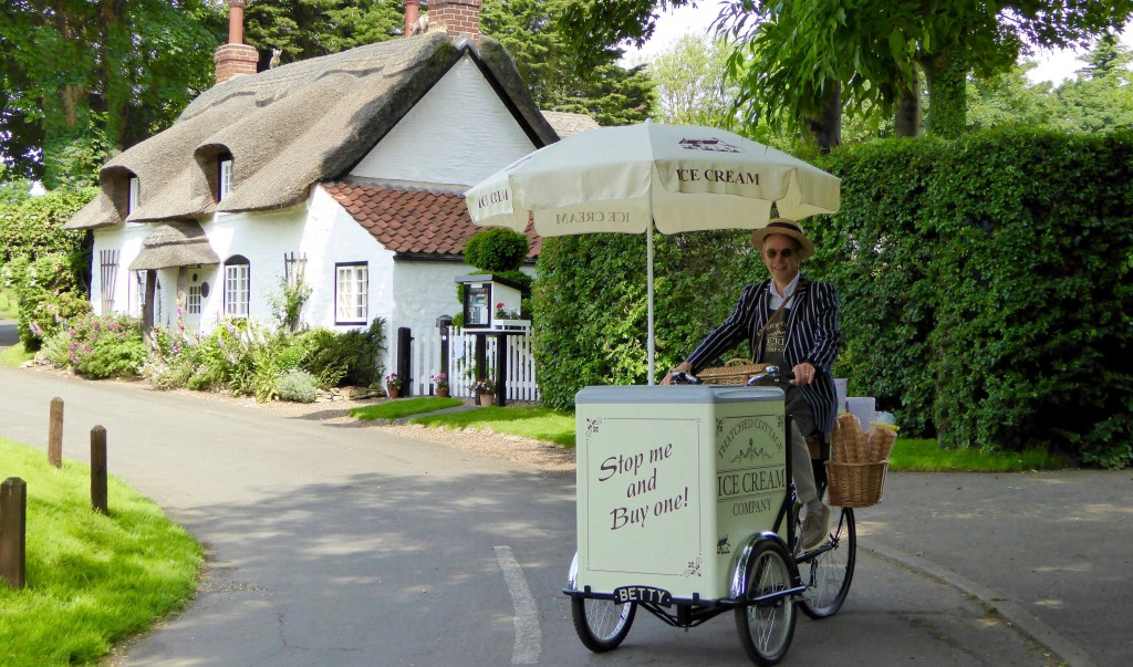Appleby Ice Cream company outside The Thatched Cottage