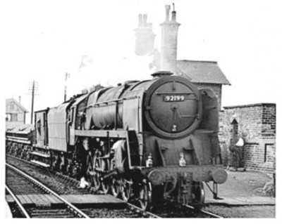 Train passing Appleby station