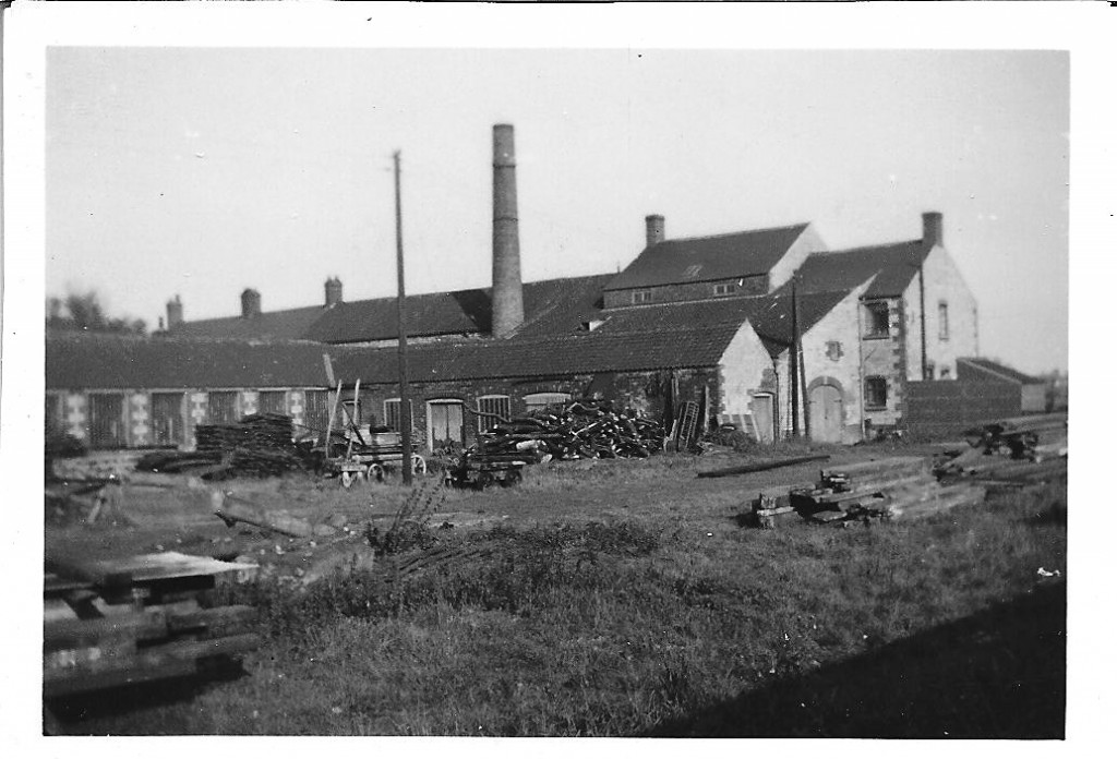 Saw mill yard from our back garden in 1952